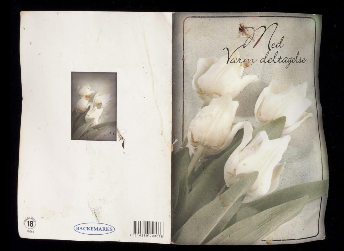 Blomster: fire hvite tulipaner.
