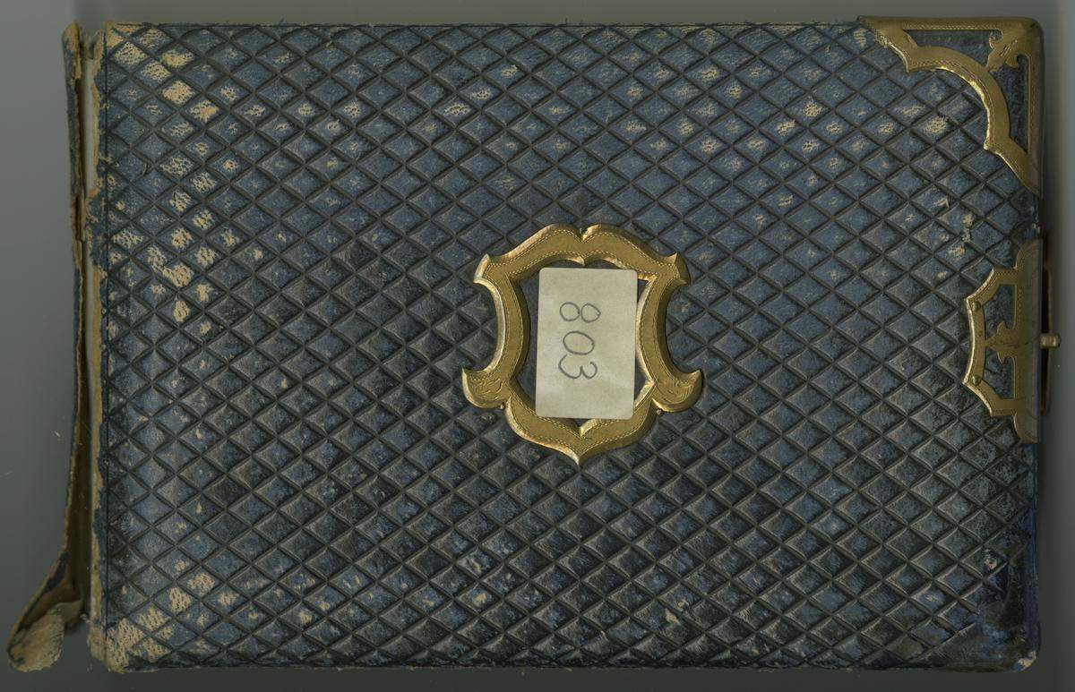 Fotoalbum innehållande bilder av officerare från olika regementen, huvudsakligen 1870-1880-tal.