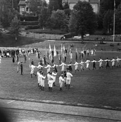 Svenska flaggans dag i Idrottsparken 1961 med bland annat fo