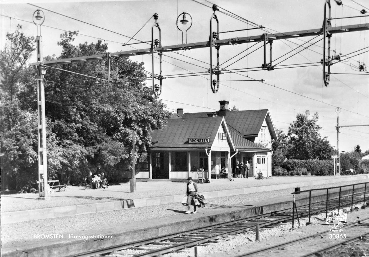 Järnvägsstationen i Bromsten.