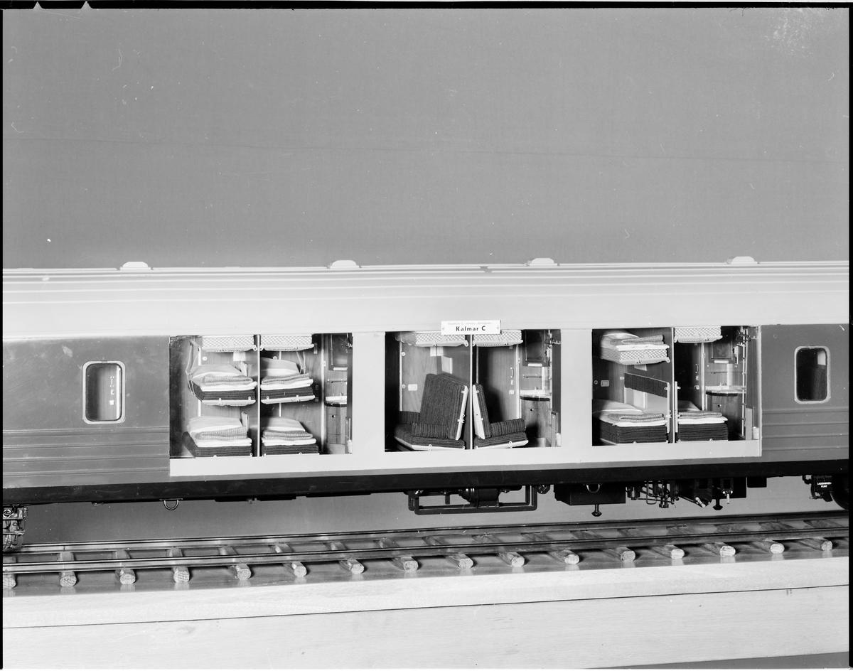 Modell av sovvagn, Statens Järnvägar SJ WLABo6 4643.