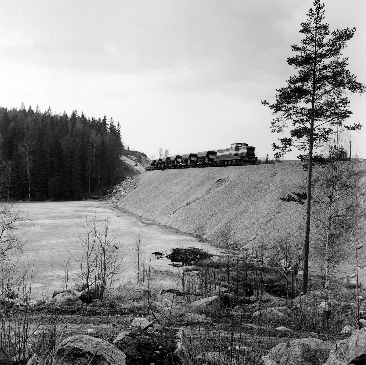 Nybyggnation linjen Filipstad V - Persberg. SJ Qbd,  SJ T43 224