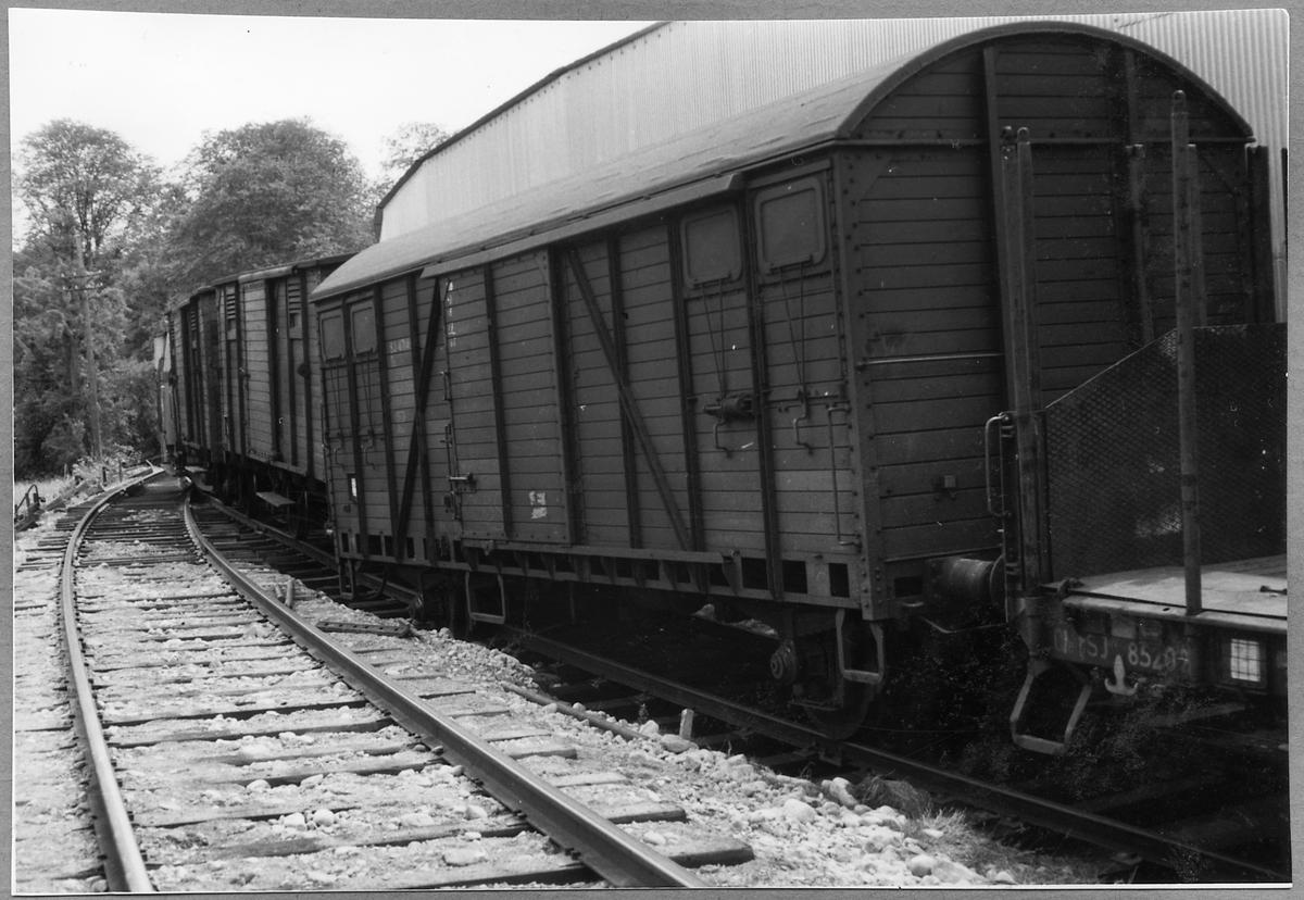 Urspårning av Statens Järnvägar, SJ G 47148. I samma godståg finns även SJ O 85202.