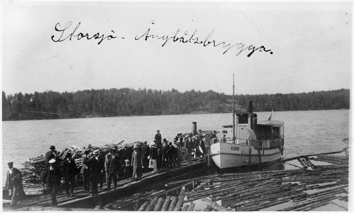 """IOGT """"Logen Daniels Fäste"""", Falerum, anordnar lustresa till Edsbruk med båtarna """"Eda"""" och """"Kurir""""."""