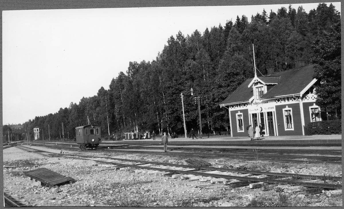 Stationsområdet vid Rämshyttan.