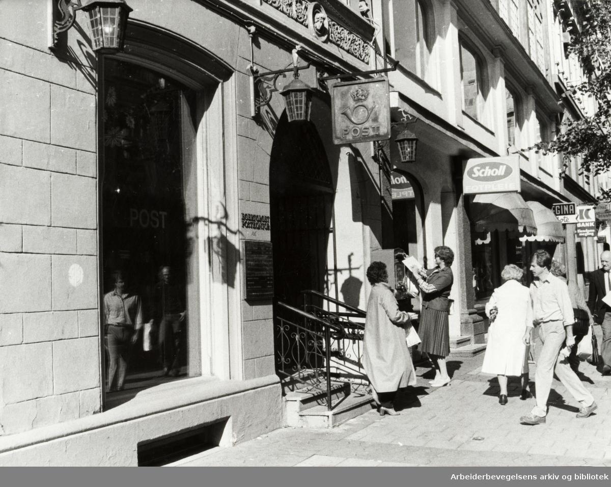Egertorget postkontor. September 1982