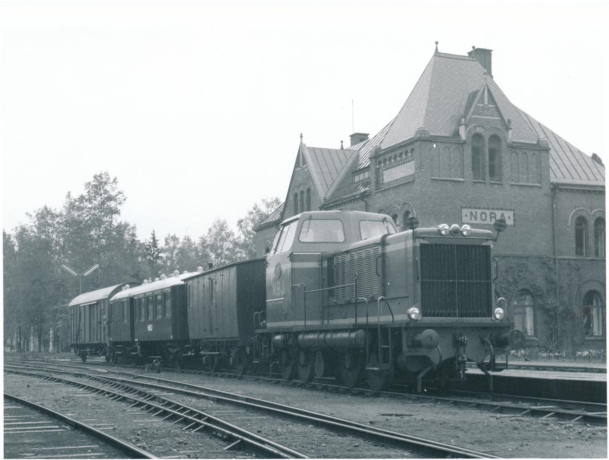 Sista personbärande tåg NBJ T Nora Bergslagen Järnväg