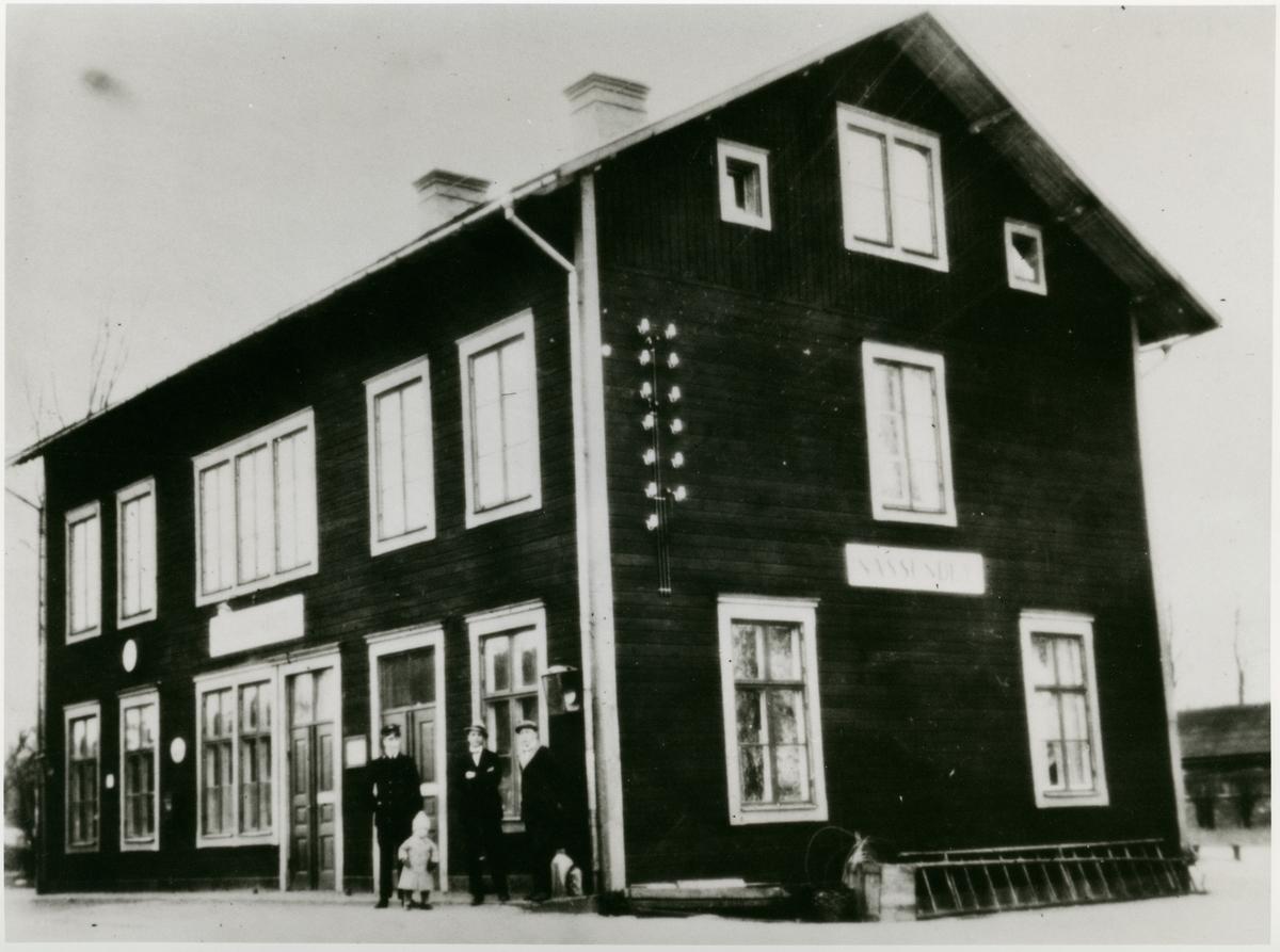Station öppnad 1873. Stationshuset före ombyggnaden. Mekanisk växelförregling. Nedlagd 1989.