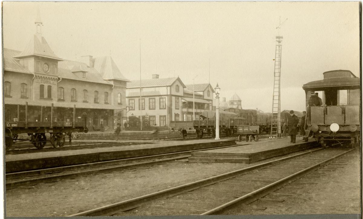 Statens Järnvägar, SJ, Godsvagn Öppen SJ 6916 med hävstångsbroms.