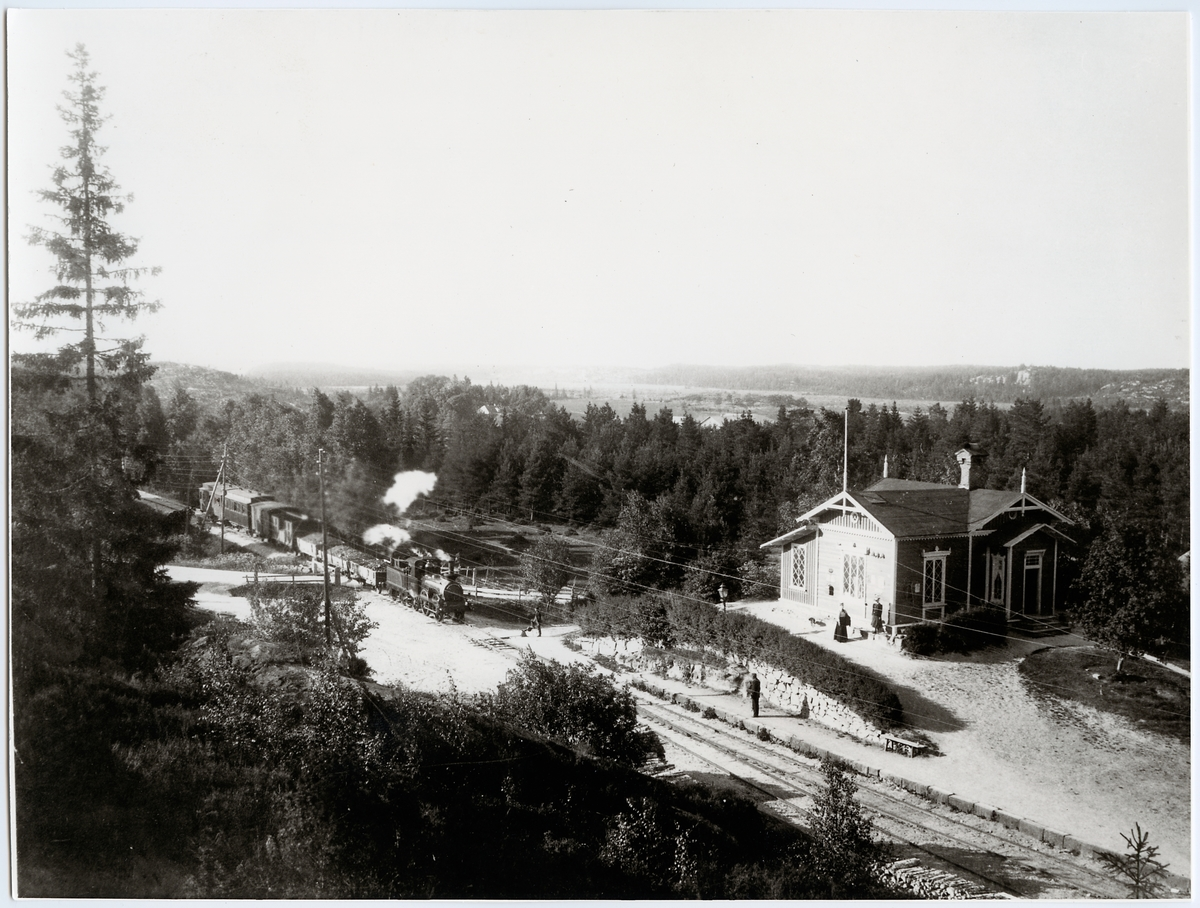 Ängebackens station.
