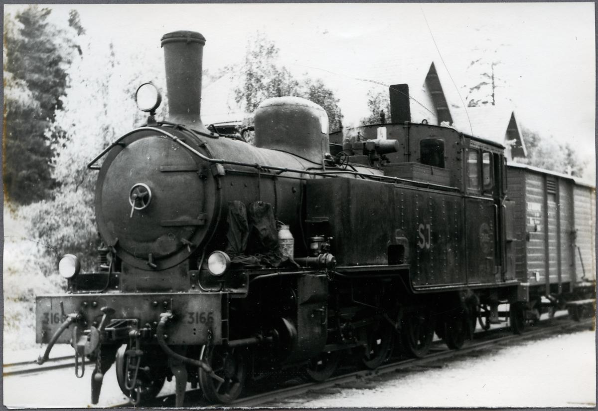 Ånglok SJ VB 9 3166.Till SJ 1950 och skrotat 1960.
