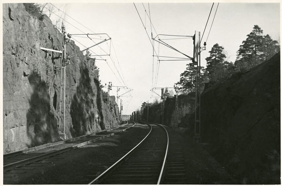 På linjen  i närheten av Älvsjö.
