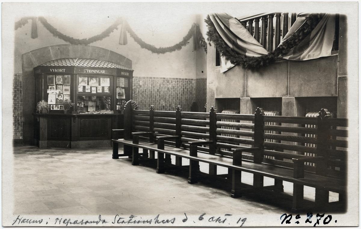 Vänthallen på Haparanda stationshus.