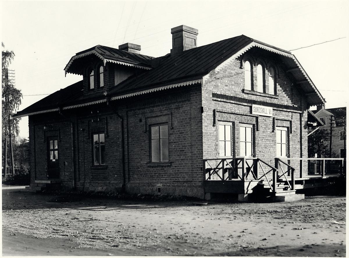 Sundsvall V stationshus.