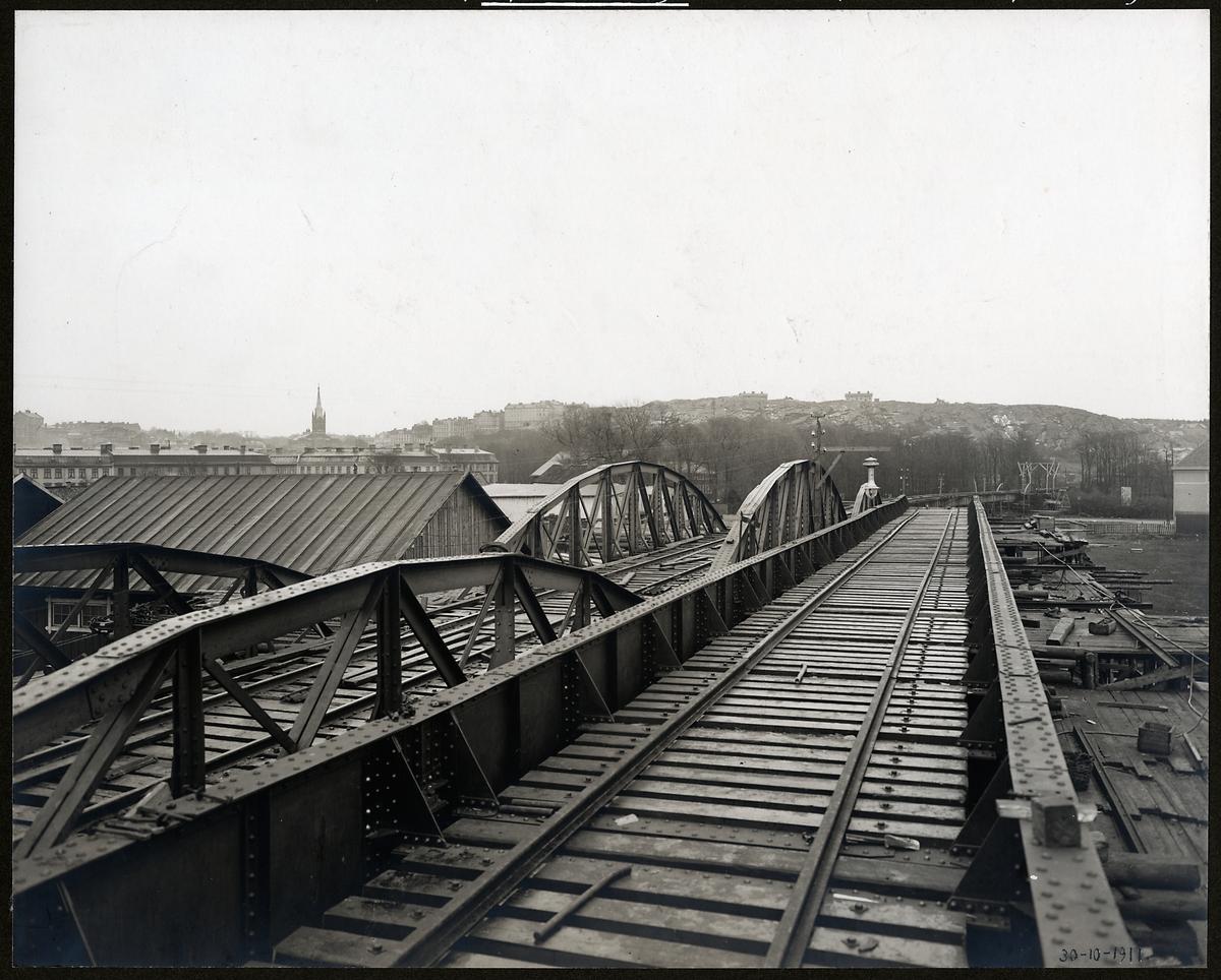 Viadukt vid Olskroken på linjen mellan Göteborg och Halmstad.