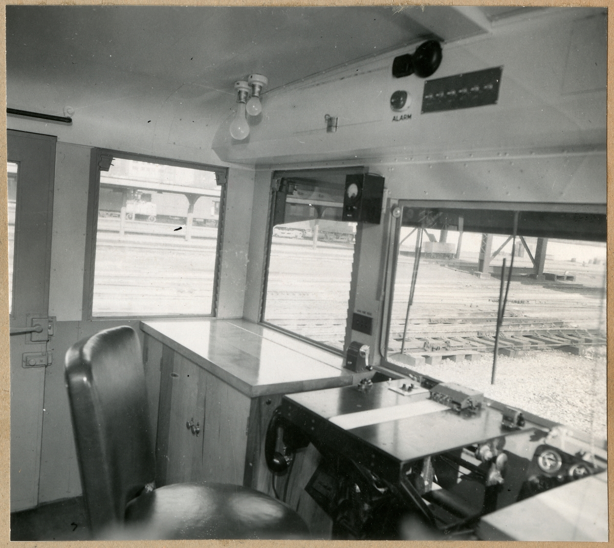 Sperry-mätvagn littera DC2 från Illinois Central Railroad, USA. 1 maj 1945.