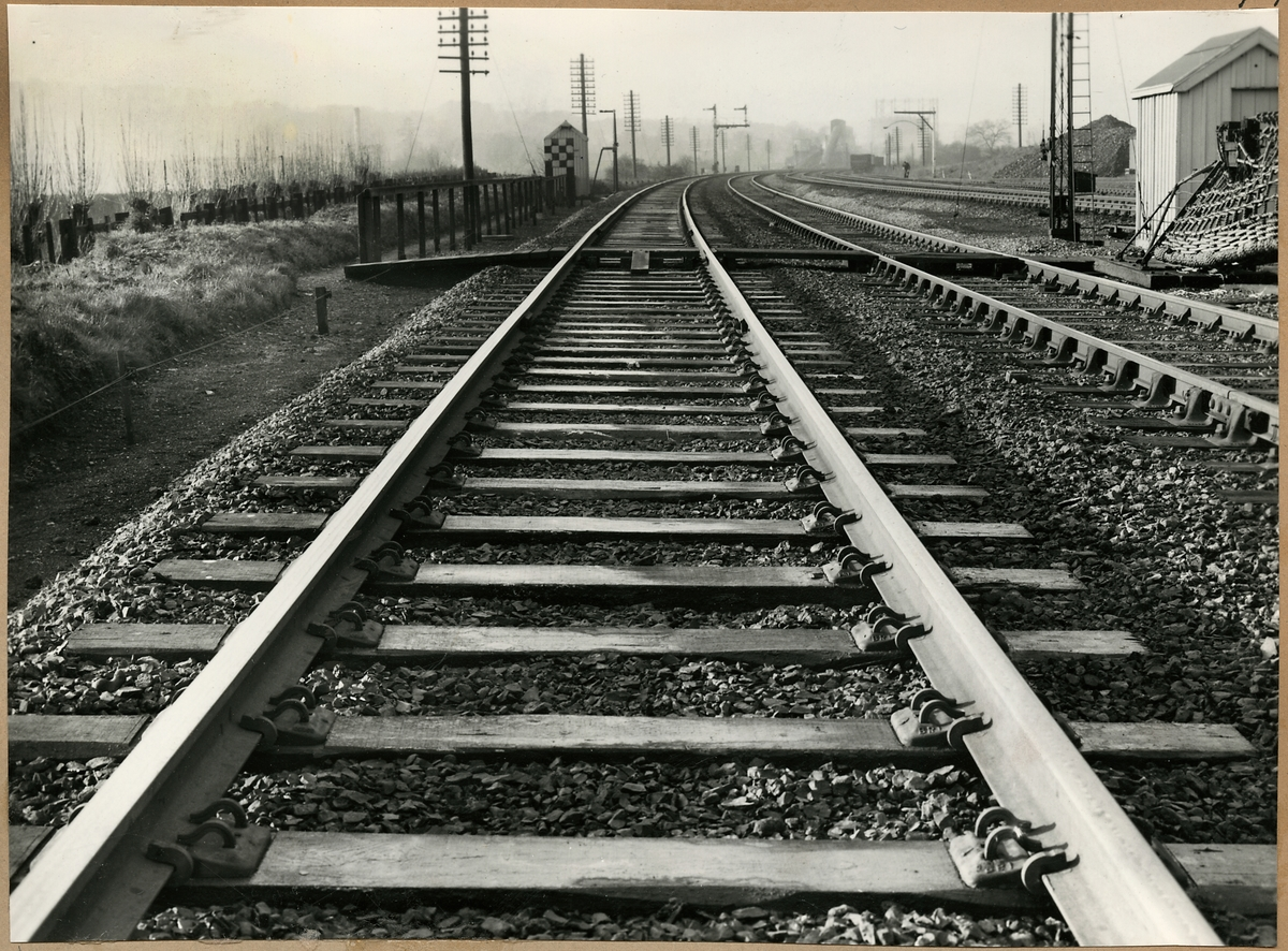 Järnvägsspår med rälsvandringshinder Fair T.