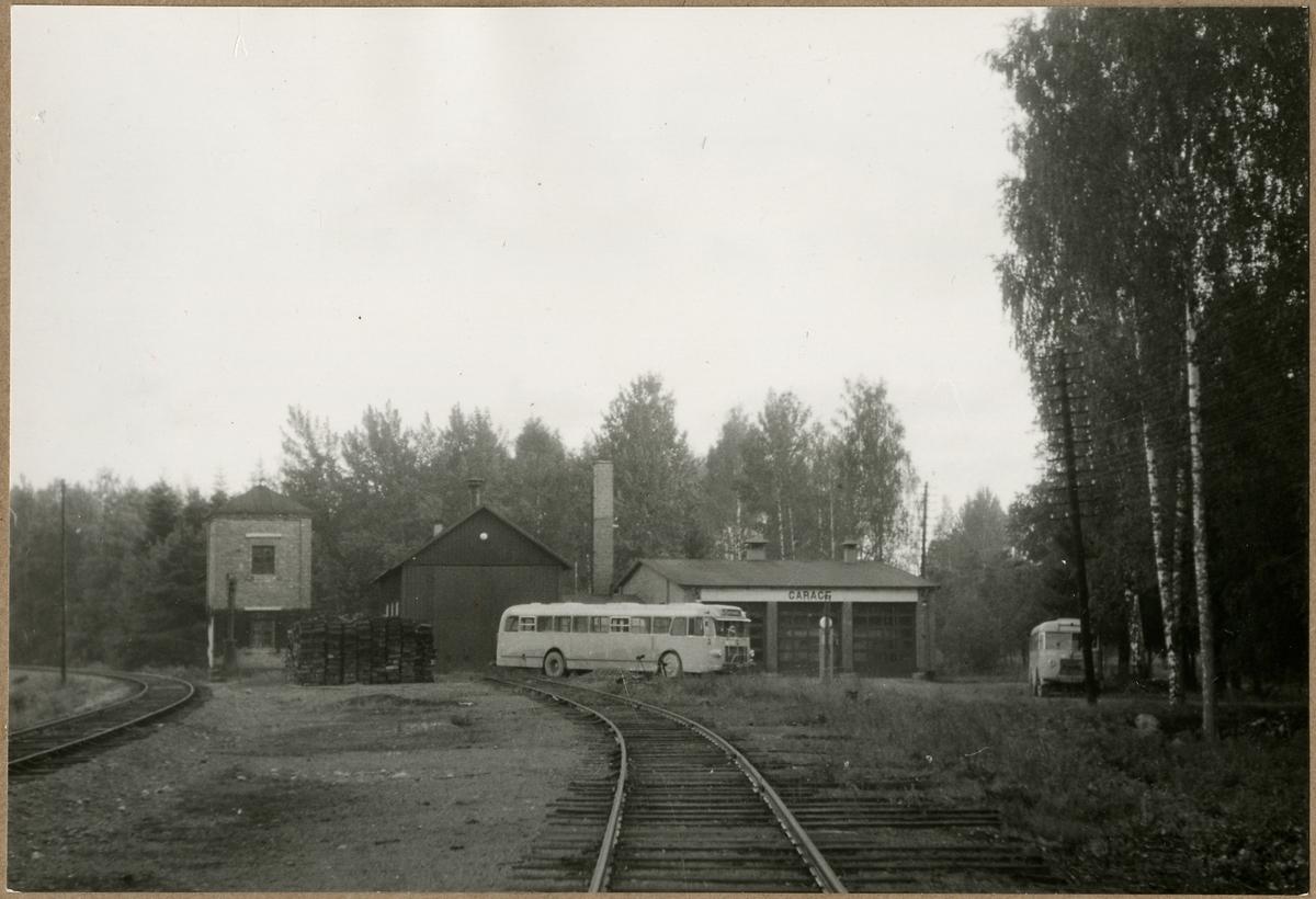 Vattentorn, lokstall och bussgarage, Gysinge.