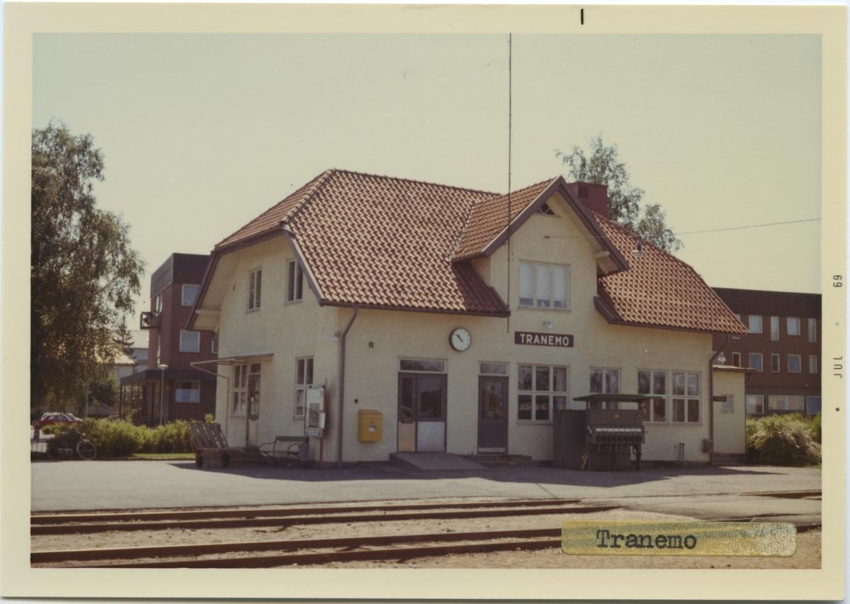 Vy över Tranemo Station. Byggnadsår 1906. Arkitekt T J Folcke, Göteborg.