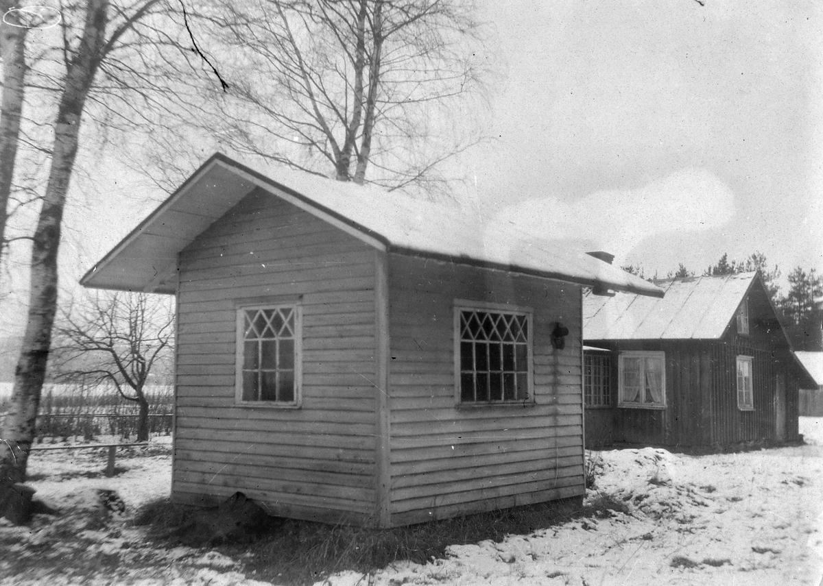 Ett liten stuga som användes som stationshus vid Lyckan.