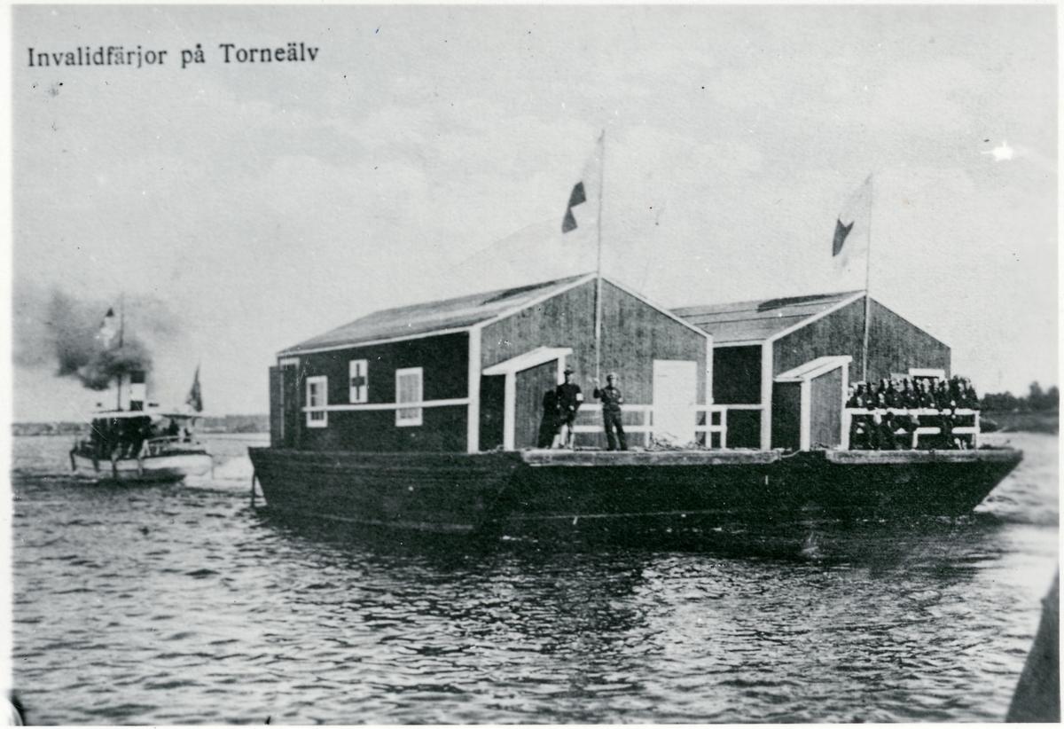 Krigsinvalidfärjor på Torneälv.