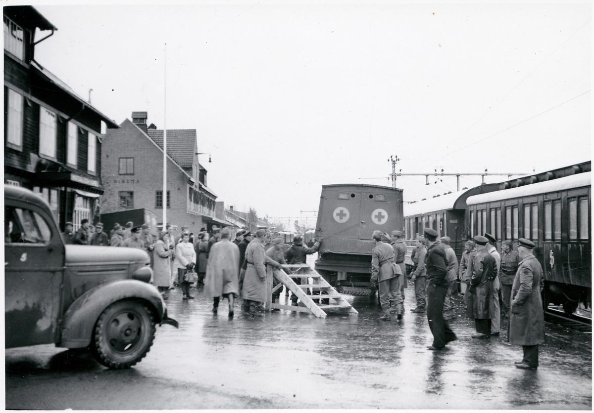 Finska evakueringen i Kiruna.