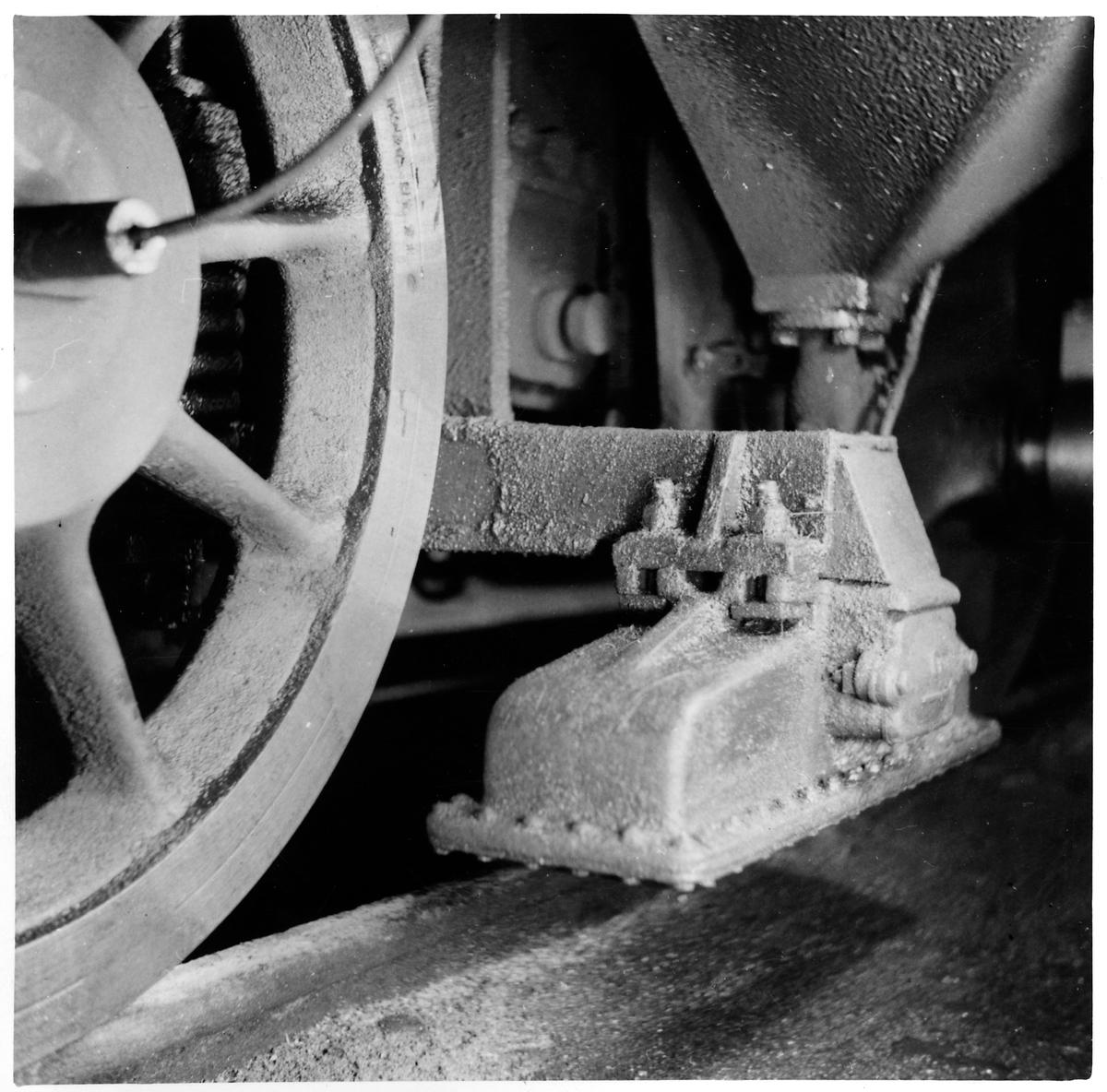 Magneten och broms till automatisk tågkontroll, system Signum
