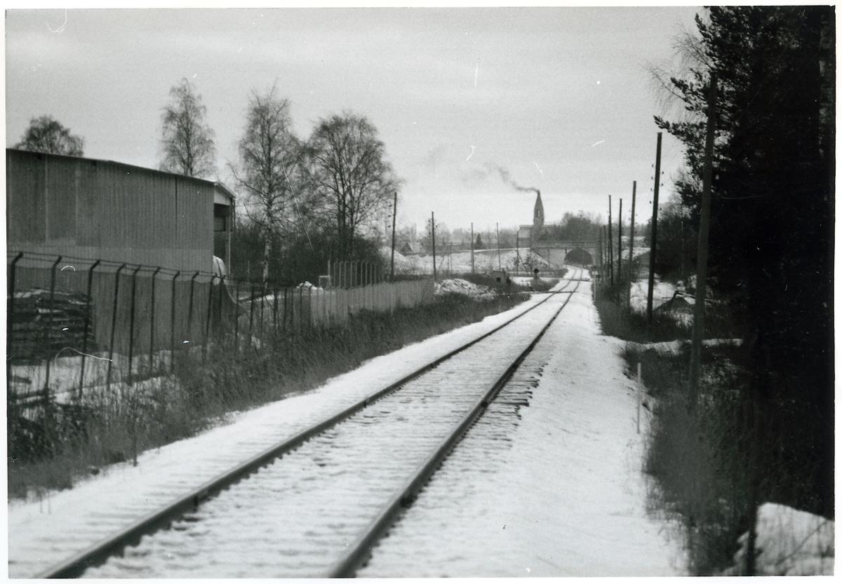Linjebild, på sträckan mellan Saladamm och Sala.