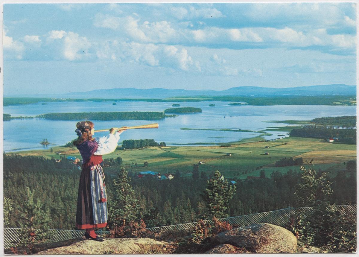 Vykort med utsikt över Dellensjöarna, Bjuråker.