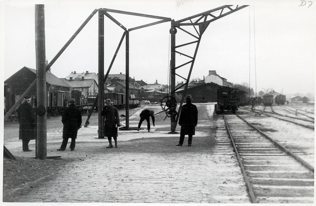 Personal på bangården i Nässjö.