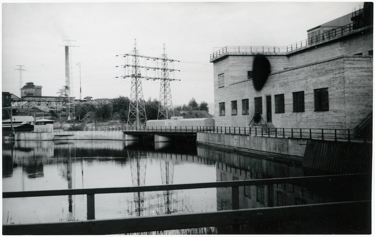 Kraftverk ovh industriområde i Vargön.