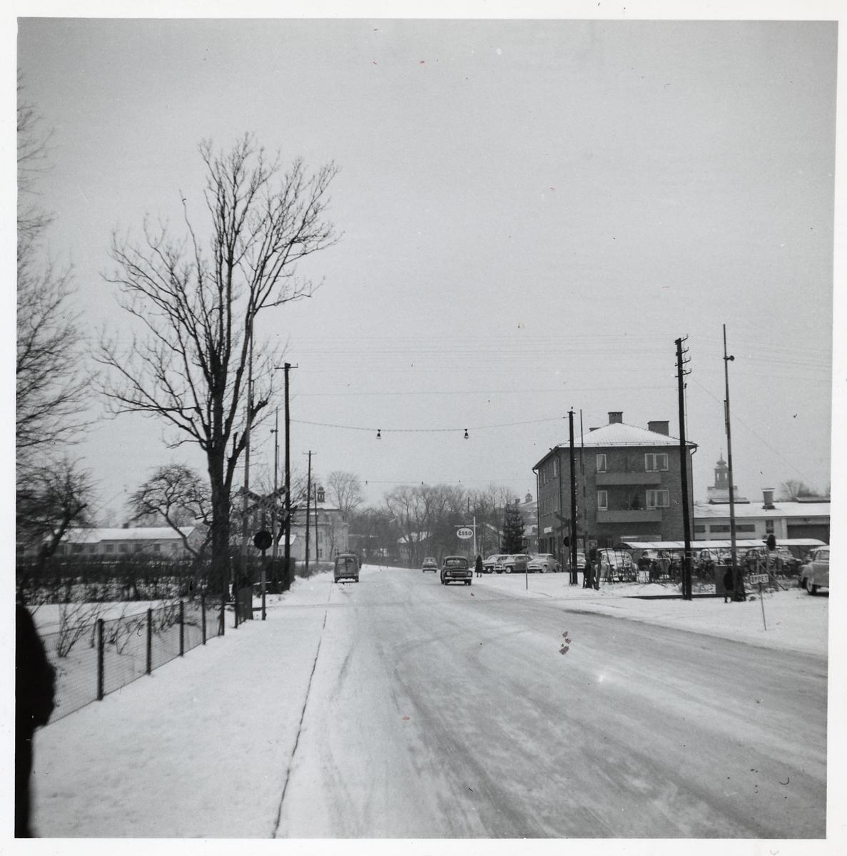 Järnvägsövergång i Eksjö.