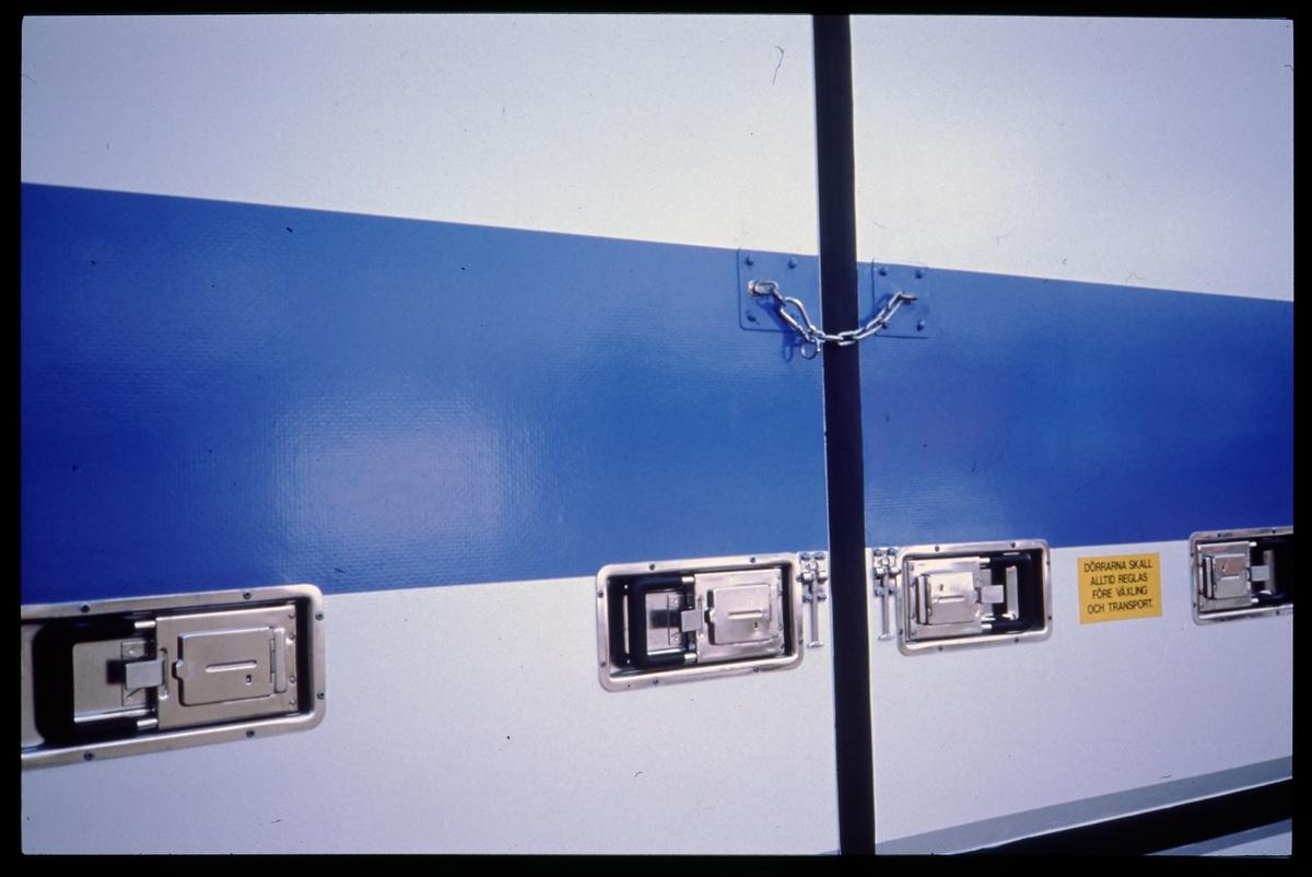 Detalj från Statens Järnvägar, SJ jumbocontainer.