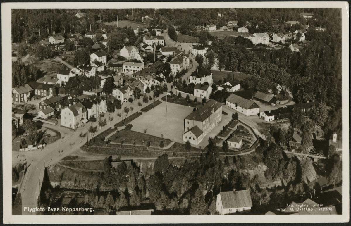 Flygfoto över Kopparberg.