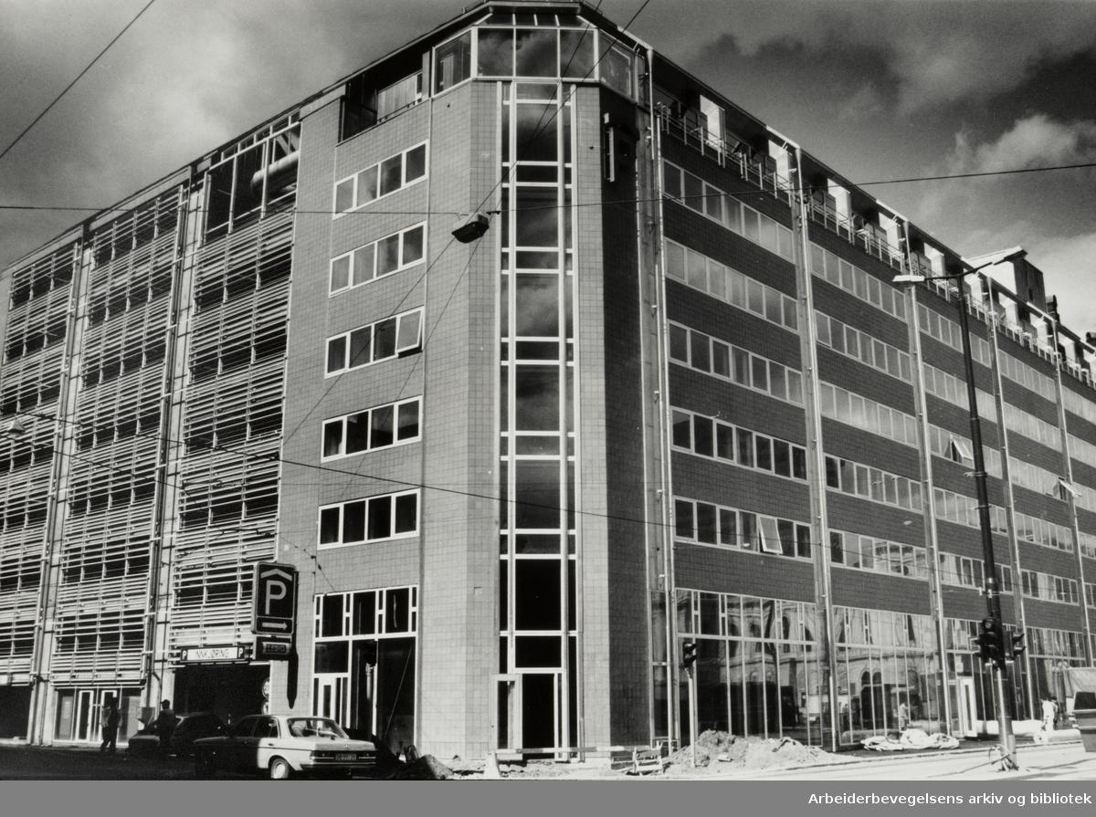Fred Olsens gate. Parkeringshuset. 7. mai 1987