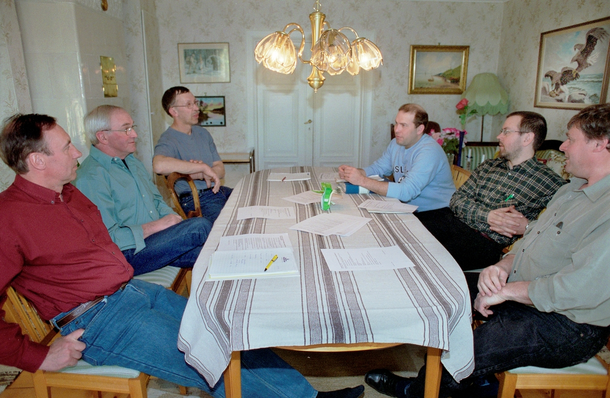 Torstuna LRF har möte Härled, Torstuna, Uppland 2002