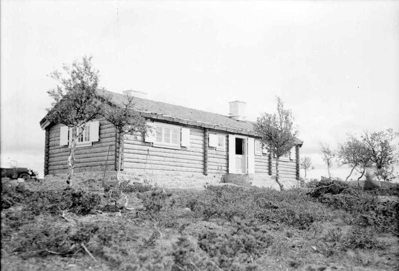 Tømret hytte.