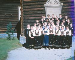 Konfirmasjon ved Skjåk kyrkje 1954