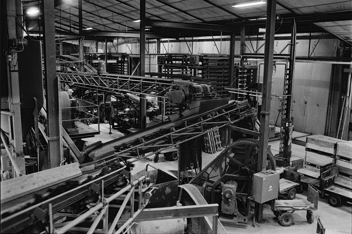 Tillverkningshallen, Vittinge Tegelbruks AB, Vittinge socken, Uppland 1986