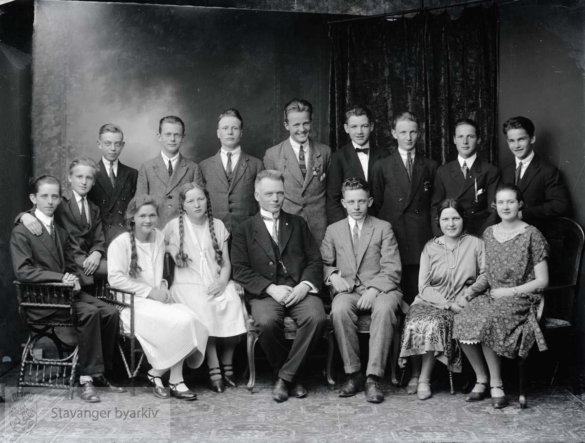 Skoleklasse ved lektor Bergs private middelskole