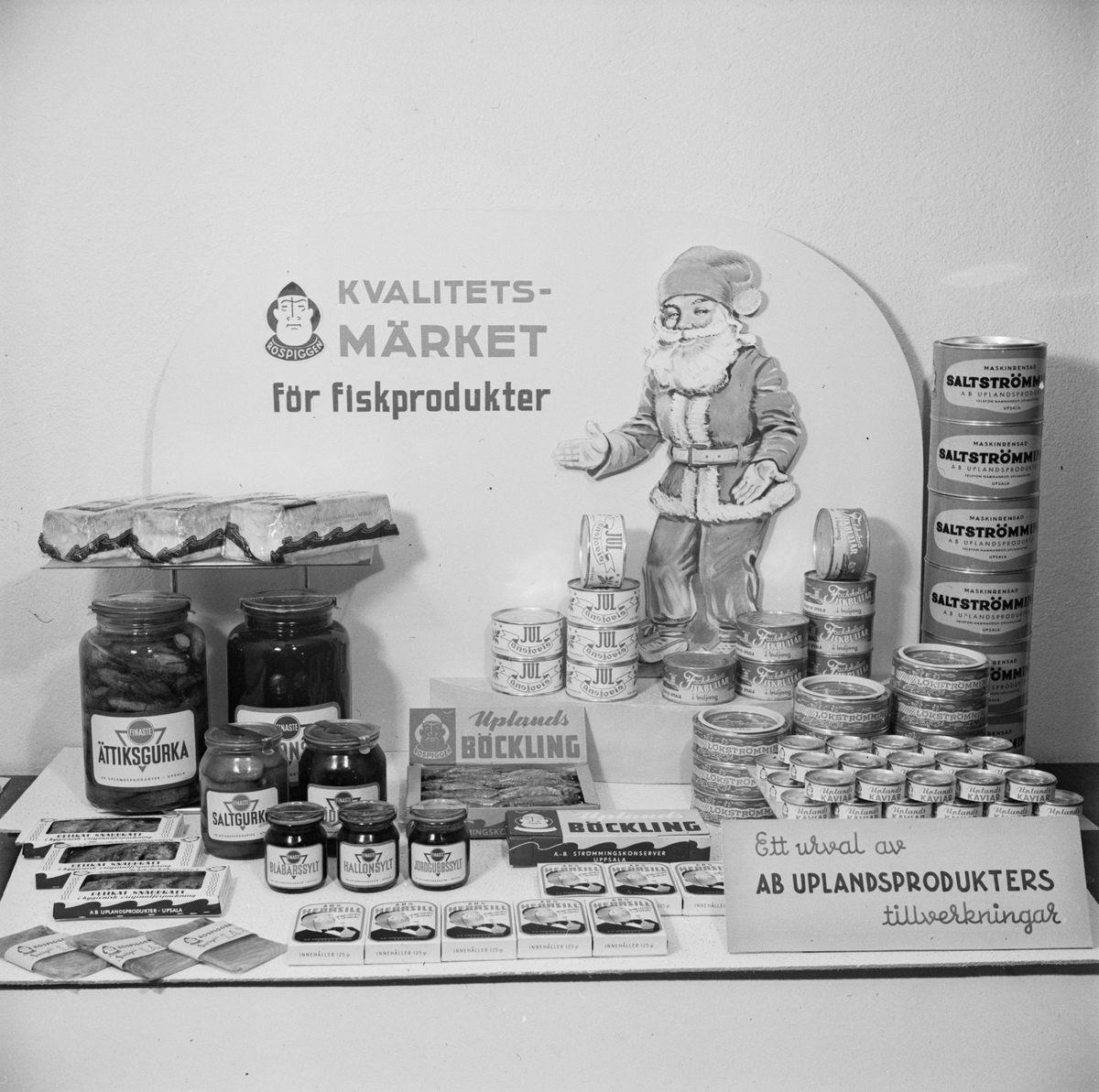 AB Uplandsprodukter, julskyltning, Uppsala december 1946