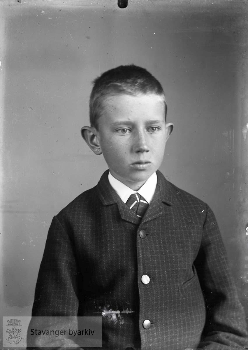 Portrett av gutt