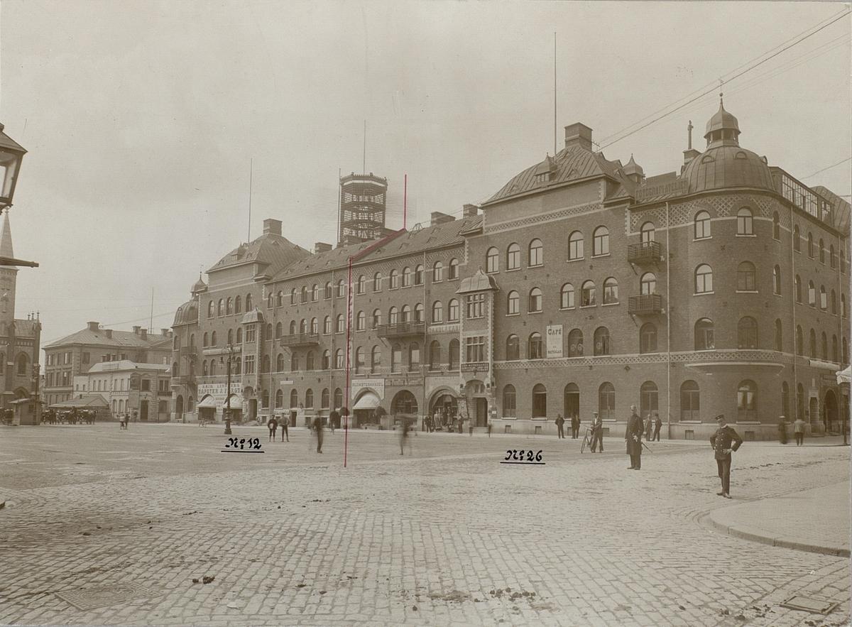 Gävle telefonstation år 1900. Exteriör. Stationen flyttades hit 23.12.1898.