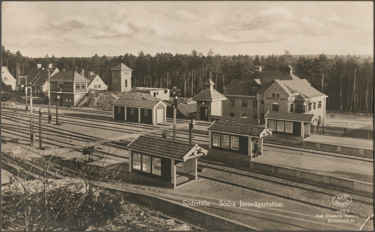 Södertälje hamn järnvägsstation.