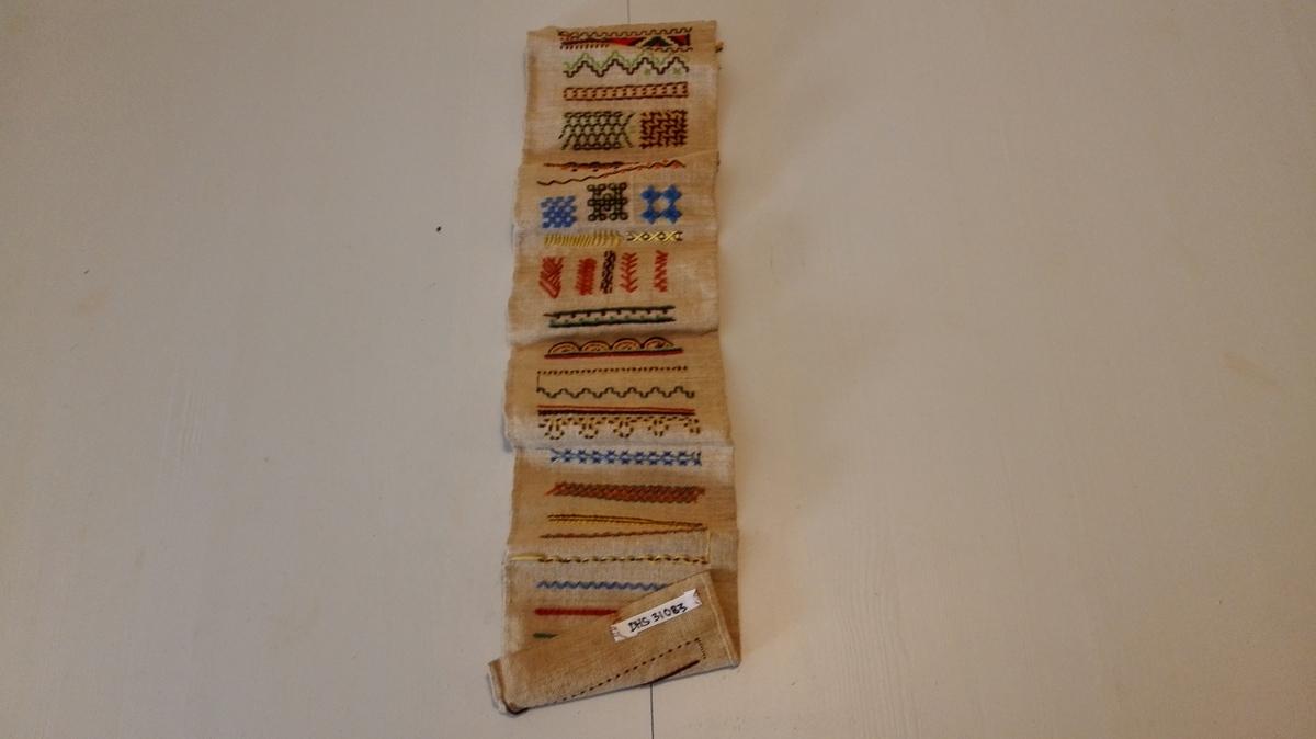 Form: Rektangulær Øvingsarbeid i tekstil i grunnskulen.