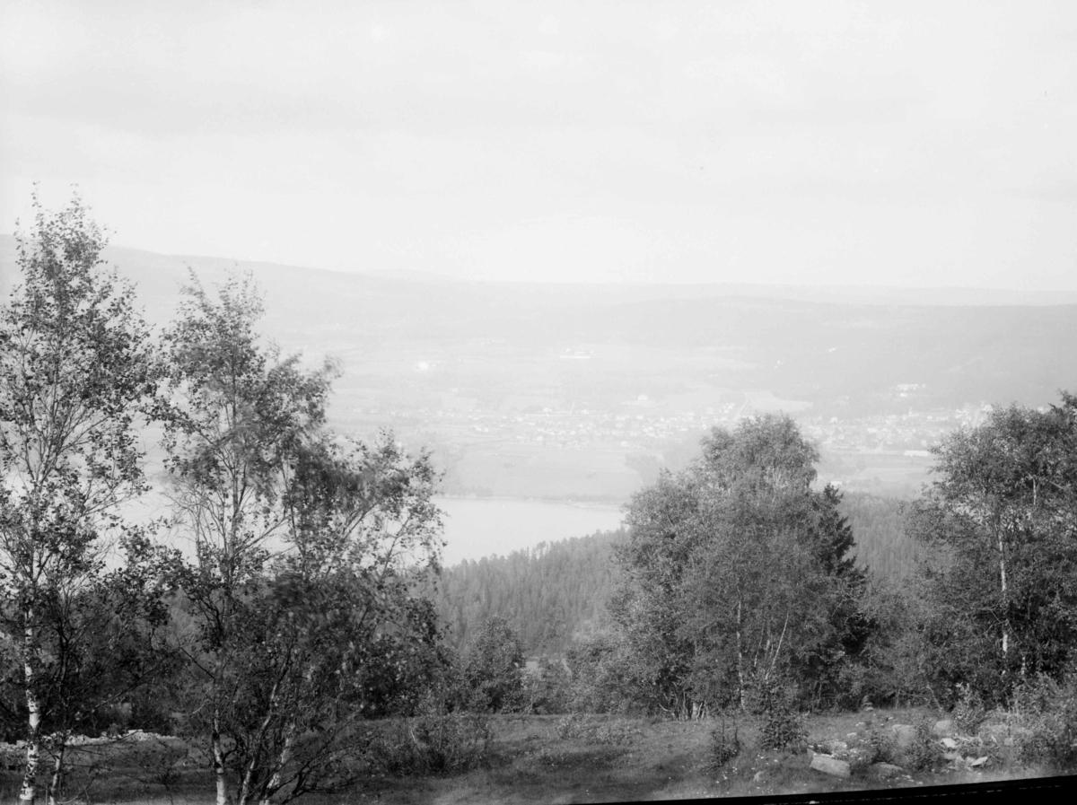 Utsikt over Lillehammer fra vest