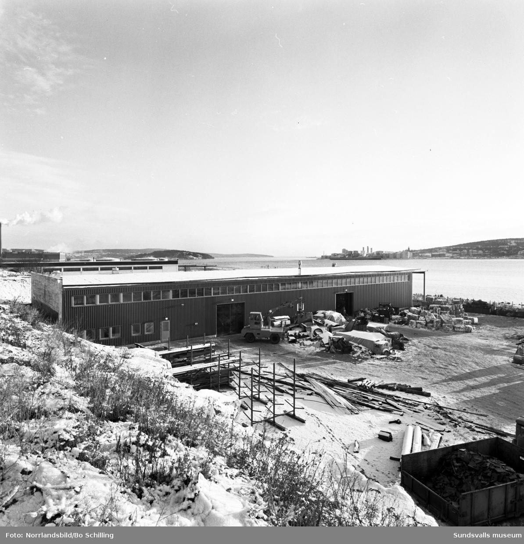 Industrifastighet i Heffnersområdet, företag för industriavfall.