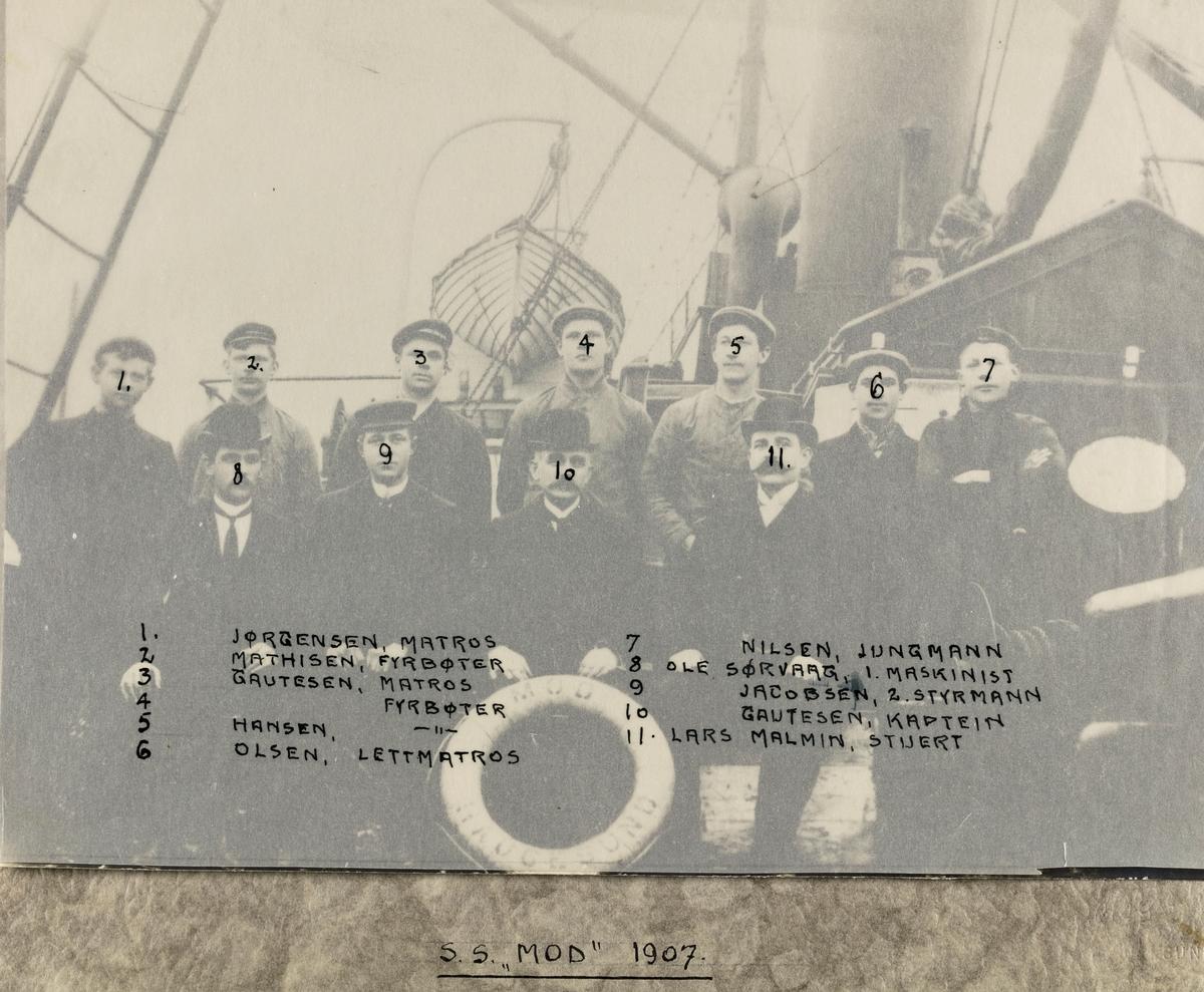 """Mannskapsbilde - S/S """"Mod"""" 1907"""