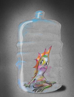 Marmæl i plastflaske
