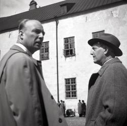 Deltagare i Nordens folkfest 1947 på Kalmar slott med anledn